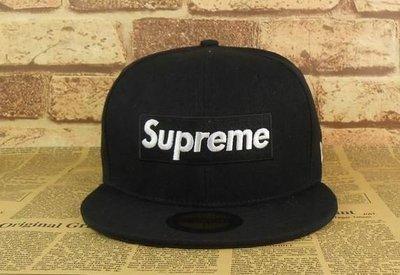 全新正品   SUPREME 帽子 棒球帽 全黑 夏天款
