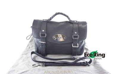 [Eco Ring HK]*Mulberry 2 Way Bag Navy 1935477 Leather*Rank AB-207002379-