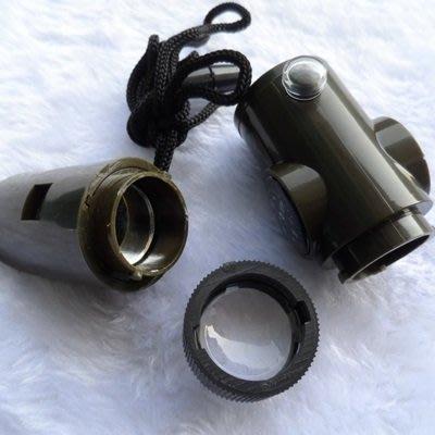 多功能求生哨(1入)-溫度計指北針LED燈反光鏡戶外用品73pp451[獨家進口][米蘭精品]