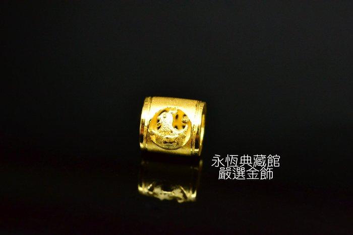 【永恆典藏館】J'code真愛密碼【雞生肖金串珠-小】兼具質感和保值的首選 也可以當墜飾配戴 免運