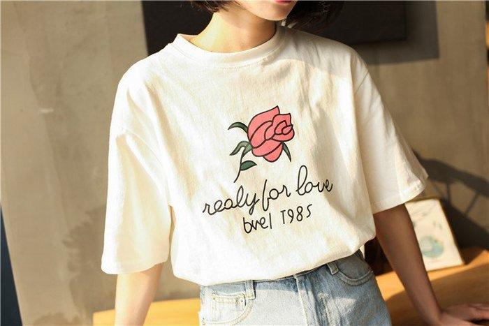 SeyeS 復古古著印花玫瑰T恤