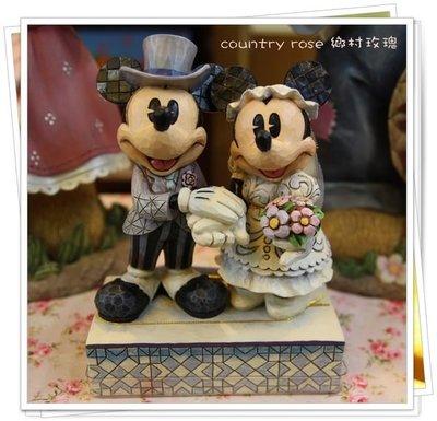 婚禮米奇米妮擺飾 迪士尼 Mickey Disney 裝飾品 生日禮物【鄉村玫瑰】