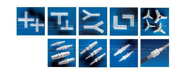 『德記儀器』基礎實驗器材 塑膠連接管-三通接管、L型管、T字管、Y型管、大小接管、直型接管