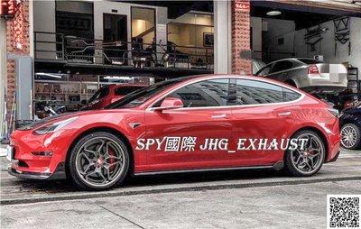 SPY國際 特斯拉 Tesla Model 3 碳纖維 側裙定風翼