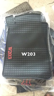 BENZ W203 乳膠汽車專用腳踏墊,橡膠汽車腳踏墊