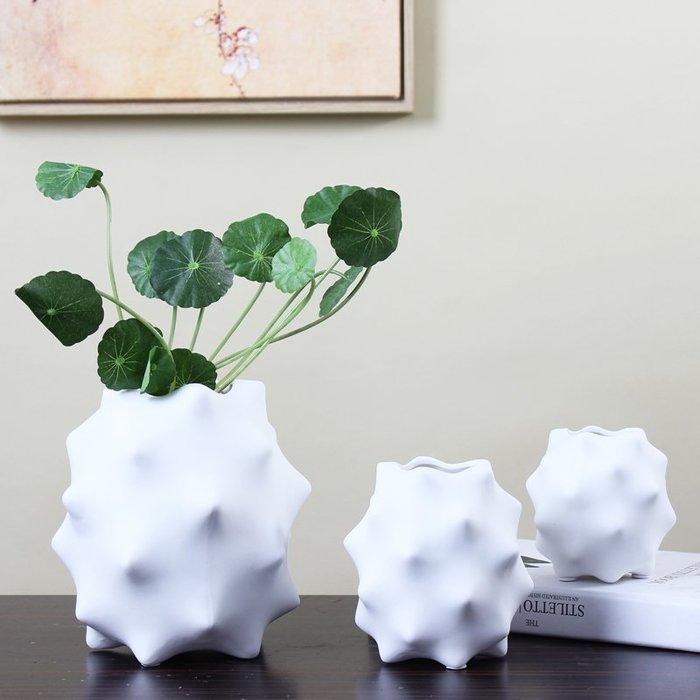 預售款-LKQJD-白色陶瓷創意花瓶擺件現代簡約家居客廳茶幾電視柜餐桌裝飾品擺設
