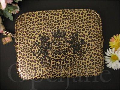 Juicy Couture Leopard 亮面豹紋筆電 NB筆記型電腦保護套資料袋 免運費 愛Coach包包