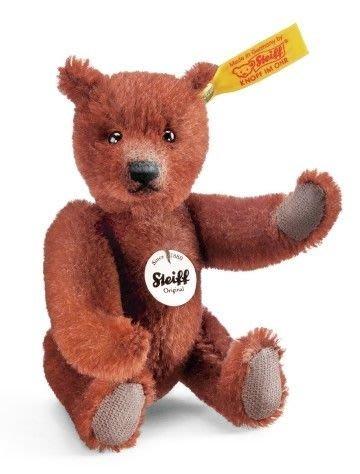 【STEIFF德國金耳釦泰迪熊】Mini Teddy Bear 收藏版泰迪熊 綠色/紫色/栗色