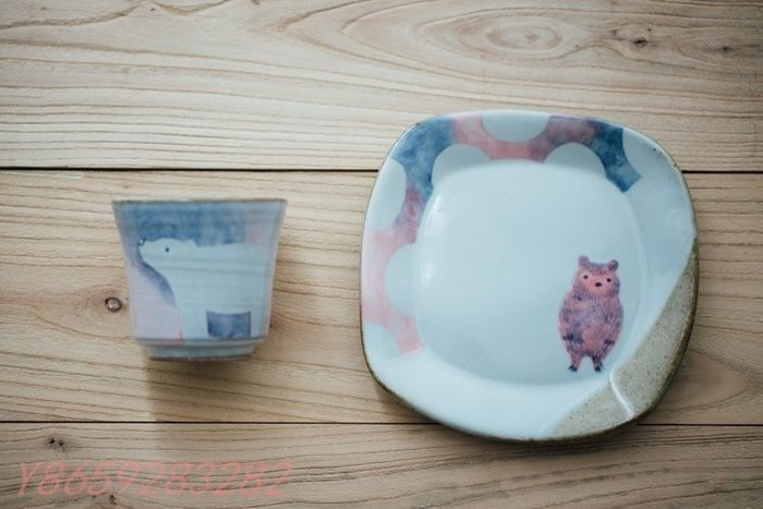 〖洋碼頭〗日本陶藝作家手作 夢幻童話北極熊動物粗陶馬克杯 咖啡杯 茶杯 C206