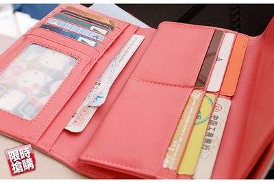糖果色雙層多層次錢包皮夾中夾長夾短夾皮包錢包錢夾【Y12d802】