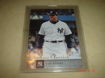 美國職棒 Yankees Manager Joe Torre 04 UD Yankees Classics 球員卡