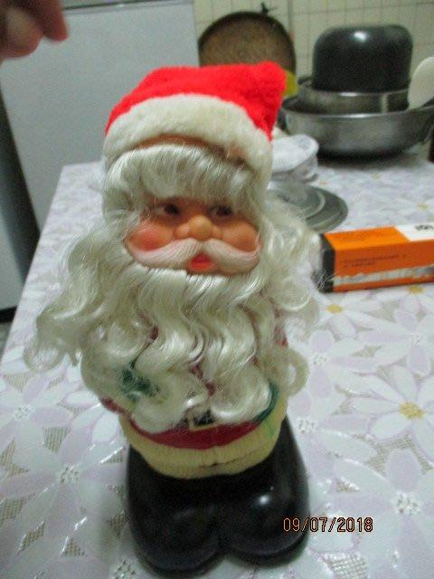 早期..聖誕老人...大腳底..錢筒....像孫小毛大腳底..希少