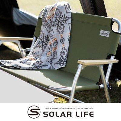 Coleman 輕鬆摺疊長椅綠橄欖CM-33807.雙人露營椅 折疊情人椅 戶外雙人椅 摺疊長座椅 雙人休閒椅