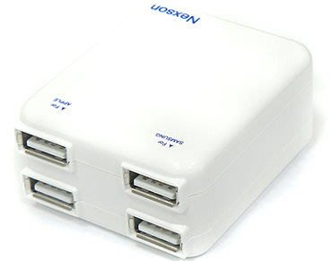 【野豬】全新 NEXSON 通海 H28B-4X 4孔旅充頭/雙USB/2A輸出/AC轉USB/雙USB/旅充/4合1 中市可自取
