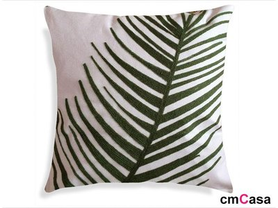 = cmCasa = [4144]現代美學新設計 立體蕨葉抱枕套 簡約優雅新發行