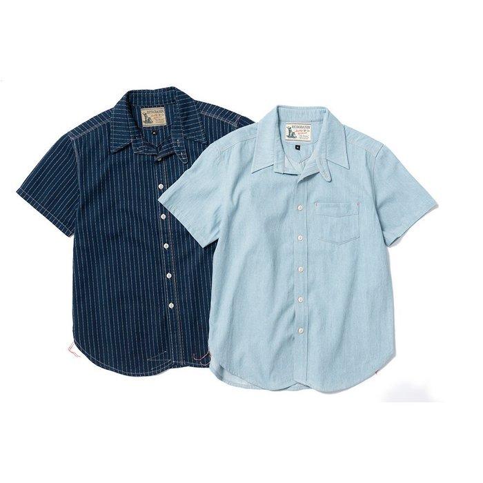 { POISON } RETRODANDY WABASH S.SHIRT 美國鐵道工人 藍染工裝短襯衫
