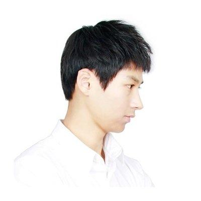 整頂 假髮 真髮絲-簡潔短款直髮透氣男假髮2色73vb16[獨家進口][米蘭精品]
