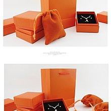 [C.M.平價精品館]活力橘黃色手提袋/飾品盒/ 絨布袋 /首飾包裝