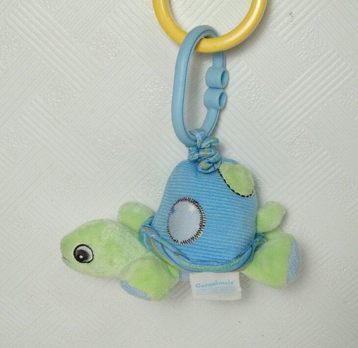 ☆奇奇娃娃屋(SE)☆Garanimals品牌,可愛的大眼小烏龜拉震布玩具(藍色)~150元
