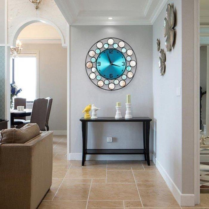 麥麥部落 天然貝殼北歐鐘表掛鐘時鐘創意百搭客廳居居家用藝術個性現代MB9D8
