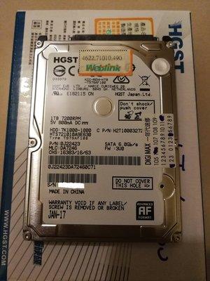 HGST 日立 2.5吋 1TB 7200轉 9mm 內接硬碟 1T HDD 筆電 筆記型電腦 新北市