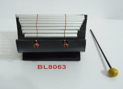 峇厘島八音階手作鋁管琴尺寸:高8cm x 左右18cm x 前後13cm