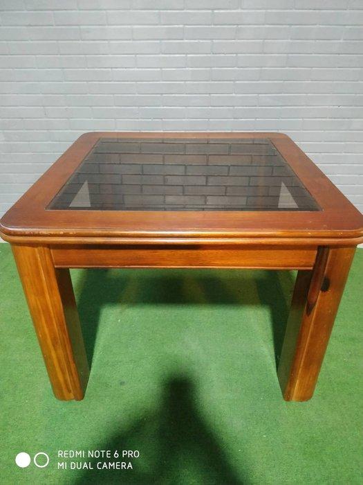 實木小茶几 茶几 方桌 小茶几 邊桌 玻璃桌 A2033-予新傢俱