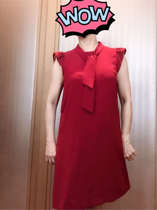 Blue label 日本藍標 紅色洋裝