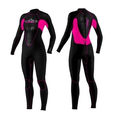 【購物百分百】3mm女款長袖連體潛水服 潛水衣 防曬衣水母衣 衝浪衣 防寒保暖衣 浮潛衣 賽