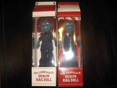 #好貨到!!!絕版超限量收藏!!! LEVI'S DENIM RAG DOLL 情人節限量版牛仔娃娃