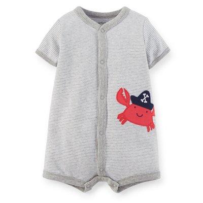 【安琪拉 美國童裝】Carter's 灰色橫條螃蟹連身衣-另有Gymboree/Oshkosh