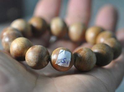 宋家苦茶油shawnanall.s1號.台灣三峽黃金油格肖楠木所製16mm14顆手珠.香噴噴.根片油花