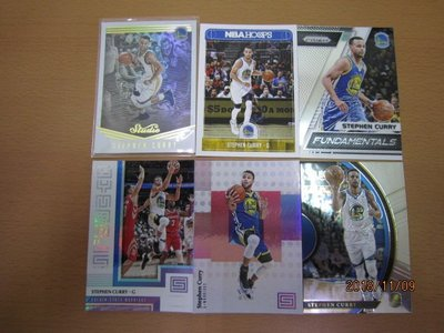 網拍讀賣~Stephen Curry~咖哩~Studio亮卡~SELECT~PRIZM~HOOPS~STATUS~共6張