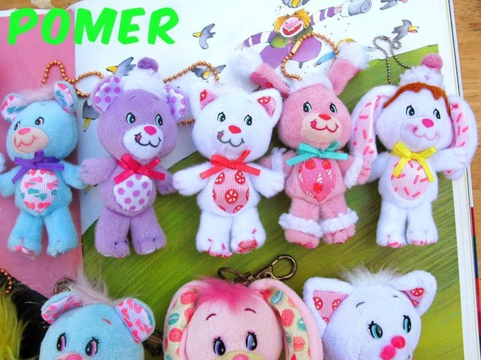 ☆POMER☆ 稀少絕版正品 鮮艷繽紛夢幻YUM YUMS 亞姆亞姆雷根糖兔草莓糖貓咪巧克