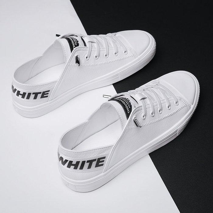 6Du spot~潮牌2020夏季新款小白鞋男士潮流韓版百搭低幫板鞋透氣平底休閑鞋