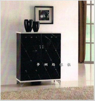 【龍來傢俱 】《HB-葵花2尺黑色鞋櫃》俐落的線條帶出整體的美感