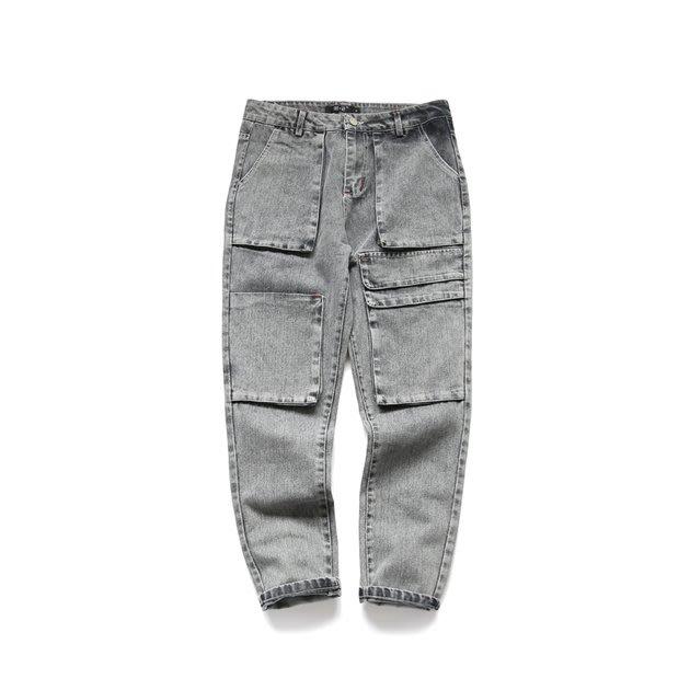 FINDSENSE 2019 秋季上新 牛仔褲 G7 立體口袋牛仔褲 男褲 長褲
