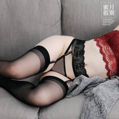 蕾絲連體簡潔吊帶絲襪☆Stunning Night蜜月假期【M-55】