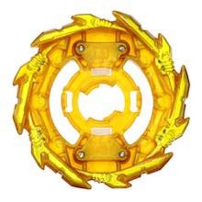 現貨 正版TAKARA TOMY 戰鬥陀螺 GT世代 BURST【黃金武神結晶輪盤配件】(戰鬥陀螺的組裝零件)