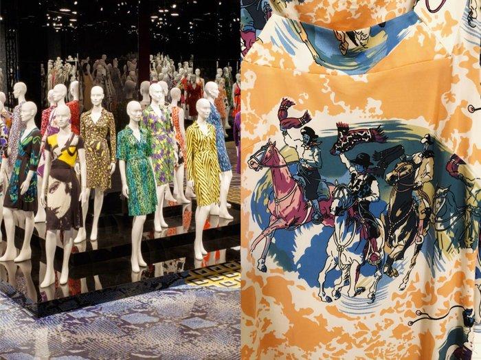 Diane von Furstenberg DVF 駿馬印花洋裝