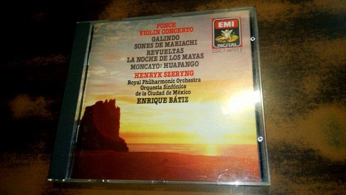 好音悅 Szeryng PONCE violin concerto EMI UK英版 CDC7497852 無IFPI