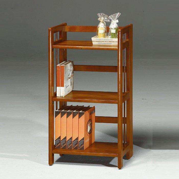 美式鄉村置物架復古實木書架做舊復古書櫃(可折合)
