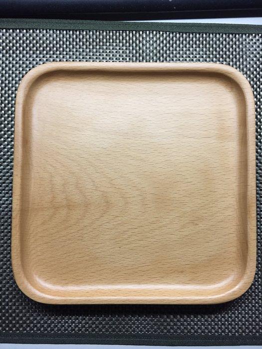 16*16方形餐盤 托盤/ 點心盤/拖盤/水果盤/蛋糕盤/木製拖盤/下午茶盤/輕食盤/茶盤/兒童餐盤/野餐盤