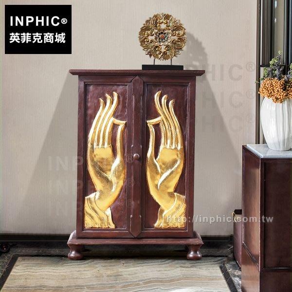 INPHIC-木整裝傢俱東南亞裝飾櫃玄關櫃泰式木雕招財佛手_FMG3