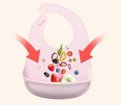 店長嚴選寶寶吃飯圍兜兒童硅膠防水飯兜嬰幼兒口水圍嘴大號超軟小孩食飯兜