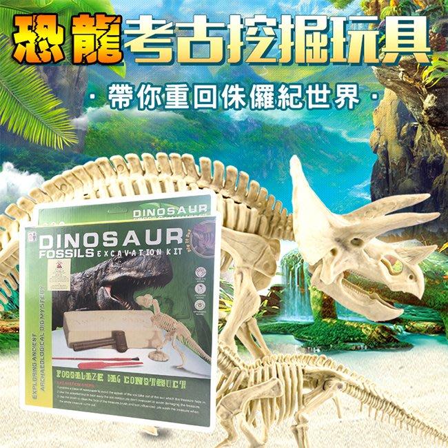 恐龍化石 恐龍蛋 考古挖掘(一般/夜光) DIY恐龍 恐龍骨頭 模型 侏儸紀公園 科學玩具【T330010】塔克玩具