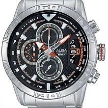 門市正貨 - 全新 Seiko Alba 精工 雅柏錶 旗艦 Sign-A AV6053X1 Chronograph Watch 份量十足 三環計時石英錶