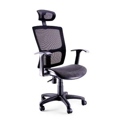 螞蟻雄兵 LV-821 網布辦公椅(黑色款) 電腦椅 職員椅 會議椅 電競椅 透氣 人體工學 頭枕 辦公桌椅 椅子