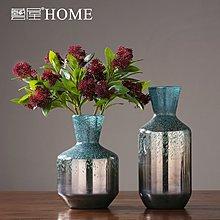 〖洋碼頭〗美式玻璃花瓶擺件家居簡約客廳餐桌玄關插花花器樣板間裝飾品擺設 ywj497