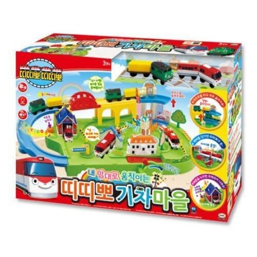 ☆天才老爸☆→【麗嬰國際】韓國TITIPO 火車村莊遊戲組 (附兩列火車) TI48751 ←玩具 交通 汽車